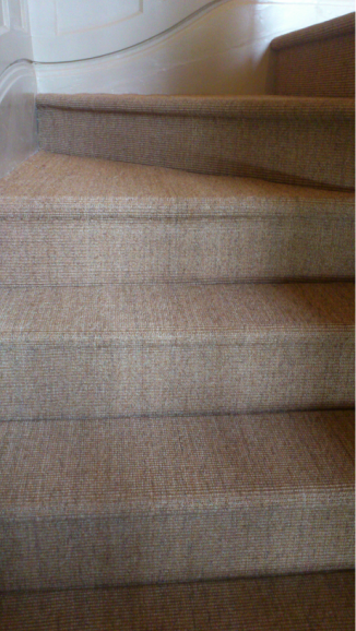 natural floor coverings on stairs by Michael Atkinson Floor Fitters